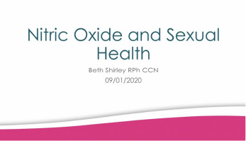 Nitric Oxide and Sexual Function