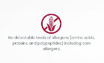 No detectable levels of allergens